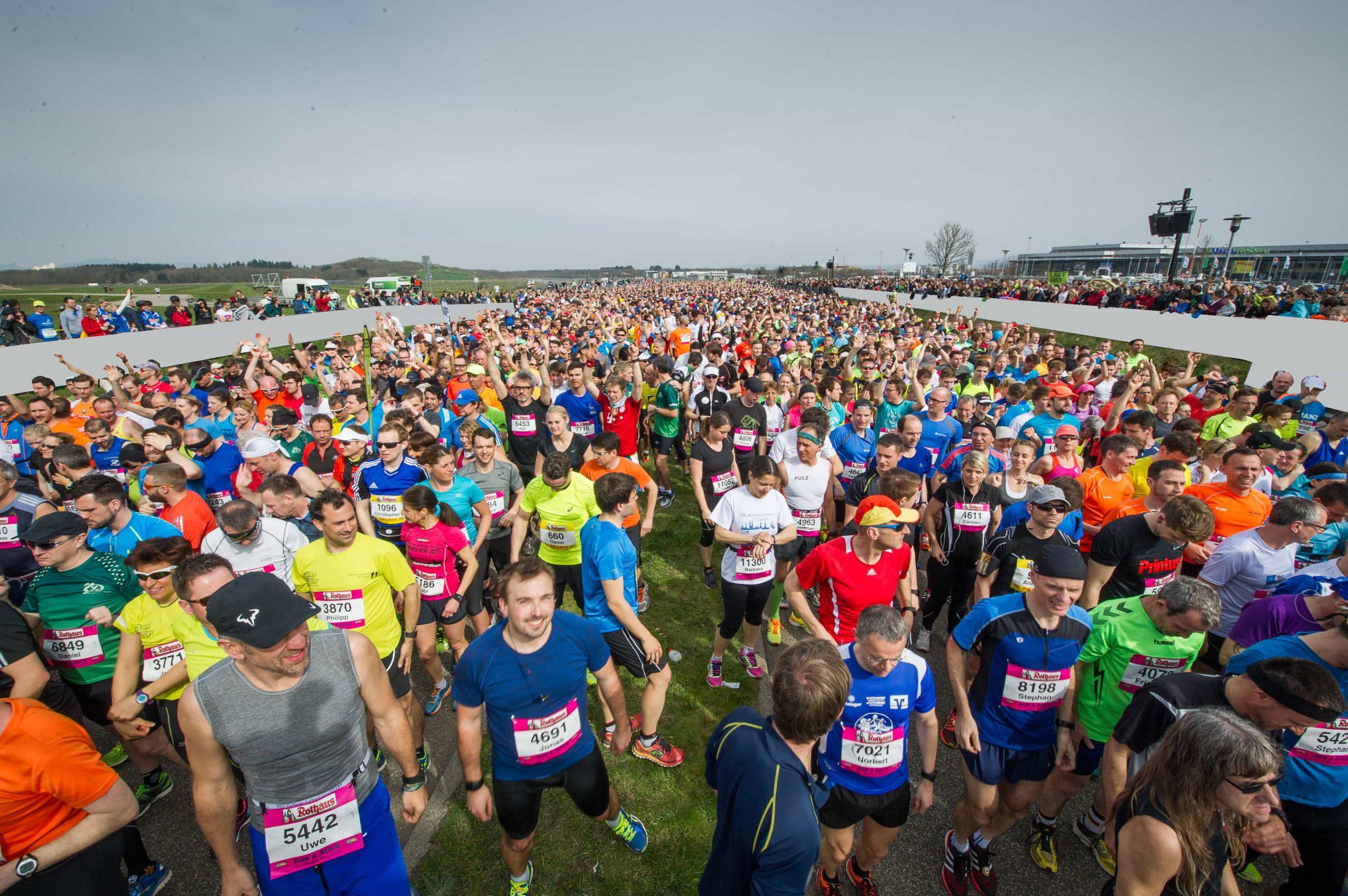 Freiburg Marathon: Start bei der Messe